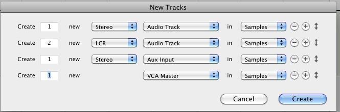 New Track Pro Tools Shortcuts