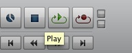 Pro Tools shortcuts play record