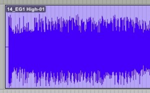 waveform zoomed in