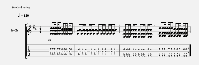 Power Chord Octave Variations